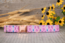 Load image into Gallery viewer, Purple Tribal Dog Collar