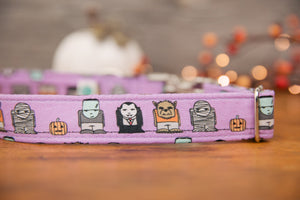 Purple Halloween Dog Collar