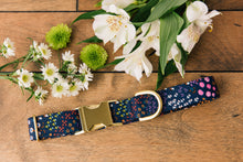 Load image into Gallery viewer, Navy Floral Dog Collar