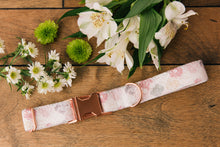 Load image into Gallery viewer, Water Resistant Pastel Pink Mosaic Dog Collar