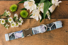 Load image into Gallery viewer, Water Resistant Galaxy Watercolour Geometric Dog Collar