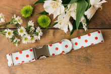 Load image into Gallery viewer, Mint Polka Dot Dog Collar