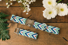 Load image into Gallery viewer, Green Chevron Dog Collar