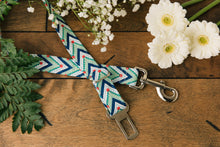 Load image into Gallery viewer, Green Chevron Dog Seatbelt