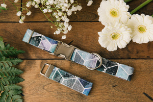 Water Resistant Galaxy Watercolour Geometric Dog Collar