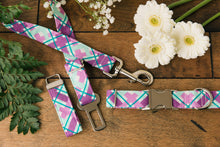 Load image into Gallery viewer, Purple Plaid Dog Collar