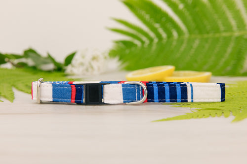 Nautical Striped Cat Collar