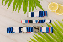 Load image into Gallery viewer, Nautical Striped Cat Collar