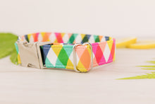 Load image into Gallery viewer, Rainbow Plaid Dog Collar