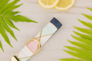 Pastel Geometric Dog Collar