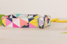 Load image into Gallery viewer, Pink Geometric Dog Collar