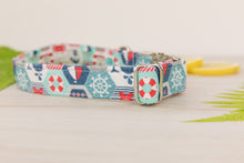 Load image into Gallery viewer, Nautical Quilter Dog Collar