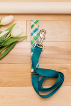 Load image into Gallery viewer, Teal Plaid Customizable Matching Dog Leash