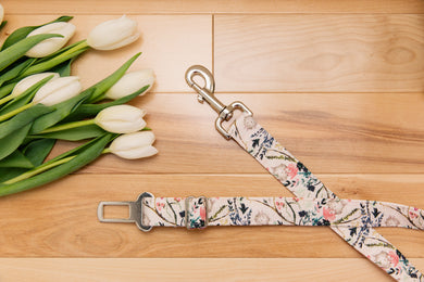 Blush Floral Dog Seatbelt