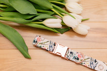 Load image into Gallery viewer, Blush Floral and Rose Gold Dog Collar
