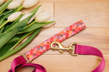 Load image into Gallery viewer, Pink and Gold Moroccan Customizable Dog Collar