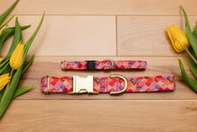 Load image into Gallery viewer, Pink and Gold Moroccan Breakaway Cat Collar