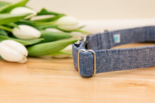Load image into Gallery viewer, Denim Linen Blend Dog Collar