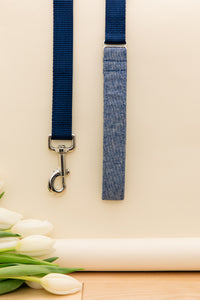 Denim Linen Blend Customizable Matching Dog Leash