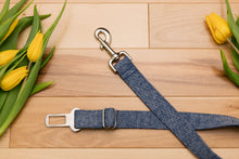 Load image into Gallery viewer, Denim Linen Blend Dog Seatbelt