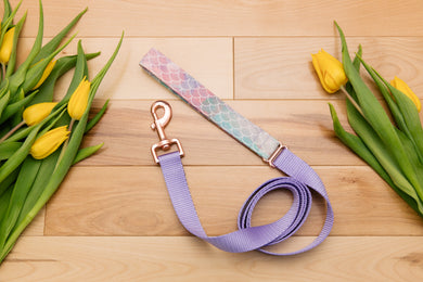 Watercolour Pastel Purple Mermaid Matching Dog Leash