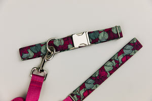 Magnolia and Eucalyptus Matching Dog Leash