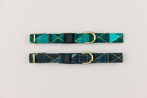 Teal Geometric Breakaway Cat Collar