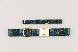Charcoal Geometric Breakaway Cat Collar