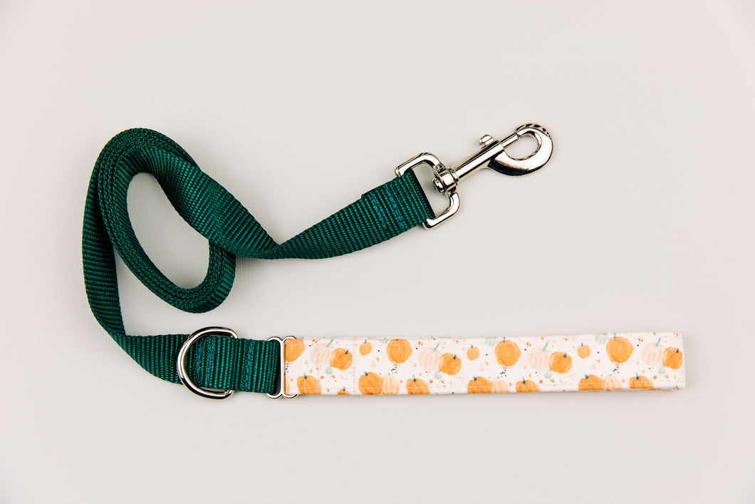 Watercolour Pumpkin Halloween Matching Dog Leash