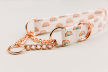 Load image into Gallery viewer, Rose Gold Rainbows Dog Collar