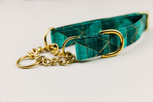 Load image into Gallery viewer, Teal Green Geometric Dog Collar