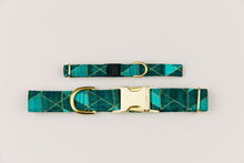 Load image into Gallery viewer, Teal Geometric Breakaway Cat Collar