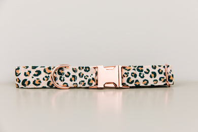Leopard Print Water Resistant Dog Collar