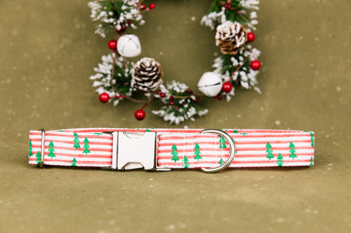 Stripes and Pine Tree Dog Collar