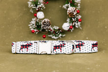 Load image into Gallery viewer, Water Resistant Moose Crossing Buffalo Plaid Dog Collar