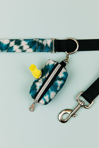 Teal Tie Dye Matching Dog Leash