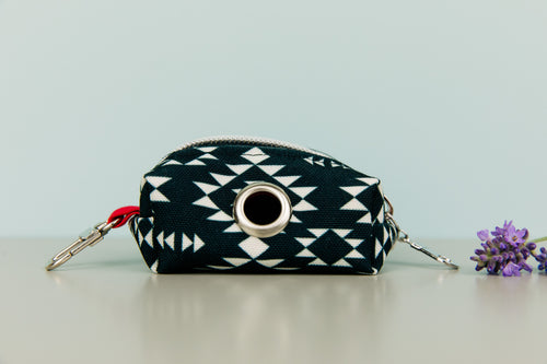 Black and White Aztec Waste Bag Holder