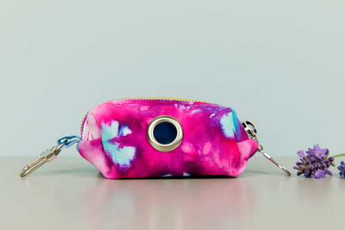 Fuchsia Tie Dye Waste Bag Holder