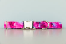 Load image into Gallery viewer, Fuchsia Tie Dye Water Resistant Dog Collar