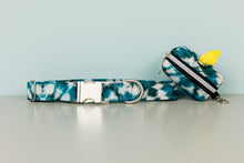 Load image into Gallery viewer, Teal Tie Dye Water Resistant Dog Collar
