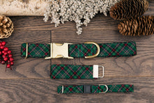 Load image into Gallery viewer, Green Plaid Cat Collar