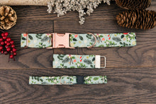 Load image into Gallery viewer, Mint Floral Christmas Cat Collar