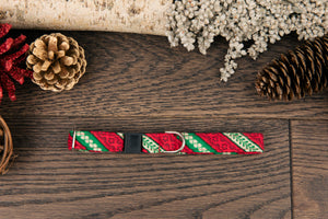 Red and Green Candy Cane Cat Collar