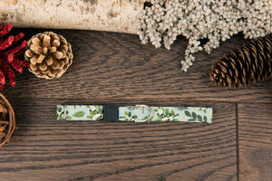 Mint Floral Christmas Cat Collar