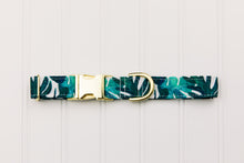 Load image into Gallery viewer, Water Resistant Tropical Palm Leaves Dog Collar