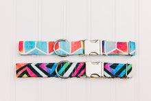 Load image into Gallery viewer, Water Resistant Geometric Colourful Dog Collar