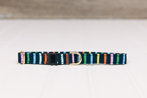 Navy Stripes Breakaway Cat Collar