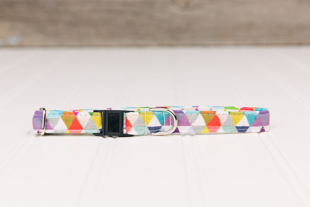 Colourful Triangles Geometric Breakaway Cat Collar