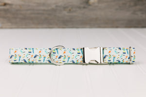Tropical Birds Dog Collar