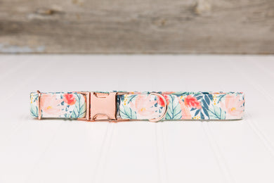 Rose Gold Tropical Dog Collar